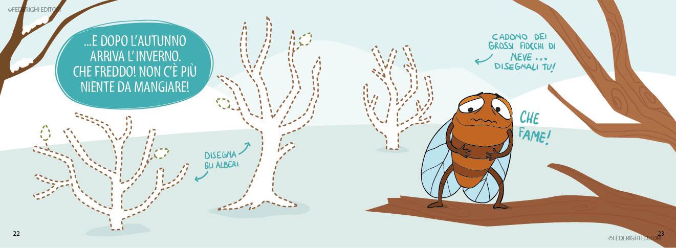 gioca con la favola la cicala e la formica federighi